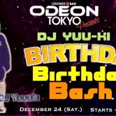 DJ YUU-KI  Birthday Bash  this saturday