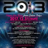 New years Eve Mega party 2018 Odeon Roppongi Tokyo